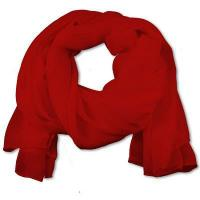 Wholesale SS-01 | Women's Red Chiffon Scarf from china suppliers