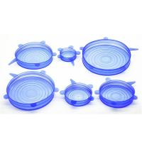 Wholesale SRK#500 Food grade 6 pack fresh-keeping Cover silicone stretch lids set from china suppliers
