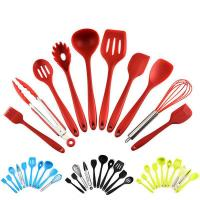 Buy cheap SRK100 Food grade silicone 10 piece kitchen utensils cookware spoon spatula tunner scraper from wholesalers