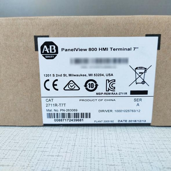 China 2711R-T7T Allen Bradley PANELVIEW 800 7-INCH HMI TERMINAL Brand new Fast delivery