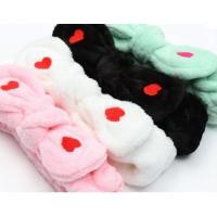 China Lady love bow wash face make up headband for girl on sale