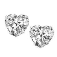 Buy cheap Diamond Essence Stud Earrings with Heart Shape Stones - WED560 from wholesalers