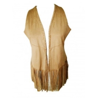 Wholesale Fake Suede Lady Vest from china suppliers