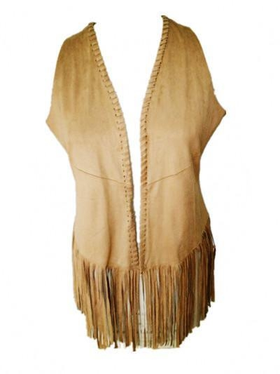 China Fake Suede Lady Vest