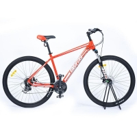 Buy cheap Orange Alloy Frame Mechanical Brakes Mountain Bike from wholesalers