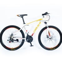 Buy cheap 26 Inch F&R Disc Brakes Steel Frame 21 Speed Orange Colorful Mountain Bicycles from wholesalers