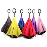 Inverted Car Use Umbrella with Pattern Double Canopy Manual Open and Close