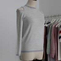 Wholesale Apparel & Fashion Lady Dew Shoulder Fashion Sweater with Long Sleeves and Half from china suppliers