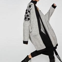 Quality Apparel & Fashion Women Fashion Oversize Cardigan Sweater with Embroidery for sale