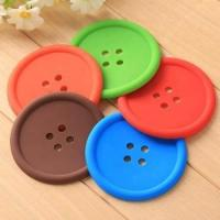 Wholesale Wholesale silicone button shape cup mat, silicone rubber from china suppliers