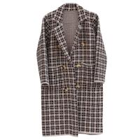 Wholesale Women's Thick Plaid Knitted Long Cardigan Sweater Winter-OC001 from china suppliers