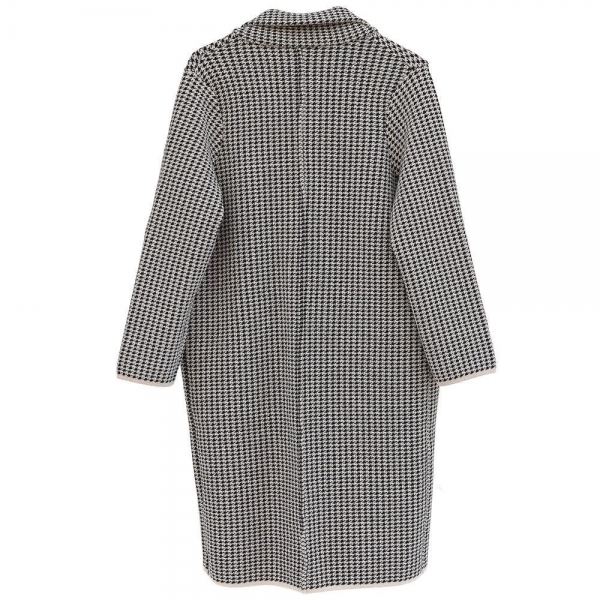 Quality Lady Woolen Knitted Coat Checkered Jacket Antumn Winter-OC004 for sale