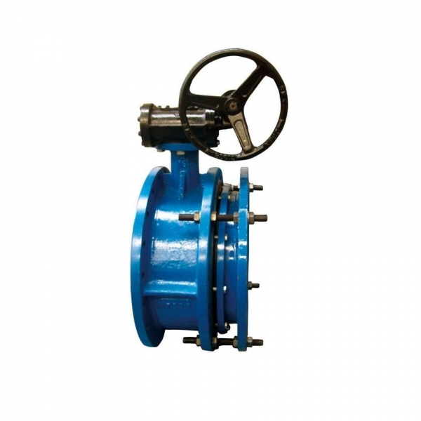 Quality Telescopic two-eccentric Soft seal butterfly valve driven by worm gear for sale