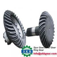 China Iso90Forging Cnc Machined Small Worm Gear Bevel Gear With Steel Hobbing Gear on sale
