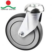China TPR Bolt Hole Shopping Cart Caster on sale