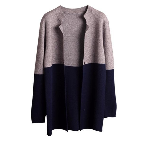 Quality Autumn Winter New Women knitting Cardigan sweater Grey bule for sale