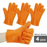 Wholesale 2-Pack Silicone Heat Resistant Oven Mitt Gloves from china suppliers