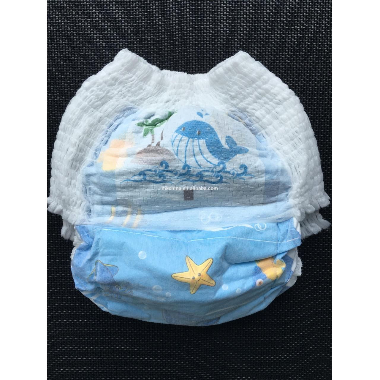 Wholesale soft disposable baby diapers nappies with elastic tape in china from china suppliers