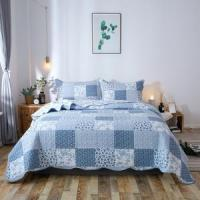 Buy cheap Kasentex Country-Chic Printed Pre-washed Quilt Set. Microfiber Fabric Traditional Multi-Blue from wholesalers
