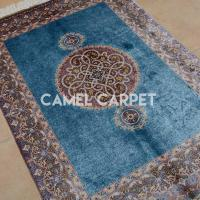 Wholesale Y0587A 100% Silk Brown And Blue Area Rug from china suppliers