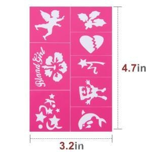 Quality Easy to Stick Down Face Paint Stencils Kit for sale