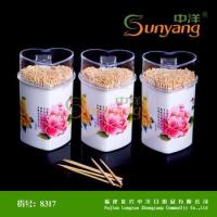 Wholesale Wholesale Natural Disposable Bamboo Toothpicks With Plastic Box from china suppliers