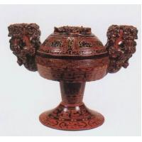 (www.taktik.cn) Chinese Antique Handicraft Lacquerware King Vessel
