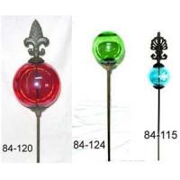 China Cast Iron Garden Stick With Glass Ball on sale