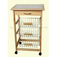 Buy cheap EPOCHALF Wood Kitchen Trolley With Tile Top from Wholesalers